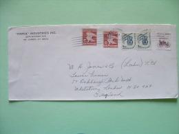 USA 1981 Cover To England - Eagle C (coils) - Ability To Write - Surrey Bike - Etats-Unis