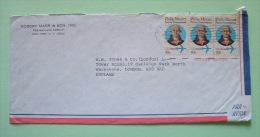 USA 1982 Cover To England - Philip Mazzei - Plane - Etats-Unis