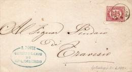 1875 LETTERA CON ANNULLO SPILIMBERGO PORDENONE - Steuermarken