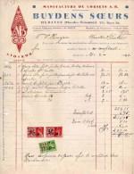 HERZELE-21-2-1940-BUYDENS SOERS-MANUFACTURES DE CORSETS - Fiscali