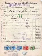 BRUXELLES-25-4-1938--FILATURE ET FABRIQUE D' ETOFFES E LAINE-DEVAUX FRERE & SOERS - Fiscali