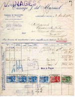 LAMBERMONT-ENSIVAL-2-4-1938-TISSAGE F. FEL MARMOL-FABRIQUE DE NOUVEAUTE - 1900 – 1949