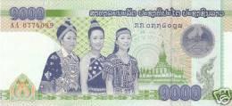 Laos 2008 New 1000 Kip Pick New Unc - Laos
