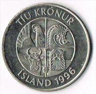 Iceland 1996 10 Kronur - Iceland