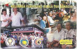 Malaysia (Uniphonekad) - Warga Tua Bahagia, 7MTRA, Used - Malaysia