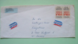 USA 1983 Cover To Germany - Civil Service Cent. - Air Mail Label - Etats-Unis
