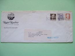 USA 1983 Cover To England - La Guardia - People's Right - Pearl Buck - Writer - Etats-Unis