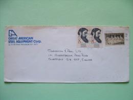 USA 1985 Cover To England - Sidney Lanier - Stone Mountain Memorial - Horse - Stati Uniti