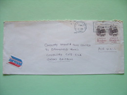USA 1985 Cover To England - A Nation Of Readers - Books - Army Slogan - Lettres & Documents