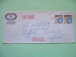 USA 1985 Cover To England - Ameripex 86 - Stamp On Stamp - Lettres & Documents