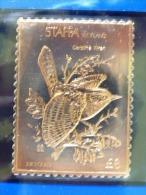 Staffa Is., UK (local) USA Birds - Two Stamps - 23K Gold Foil - Carolina Wren - Oiseaux