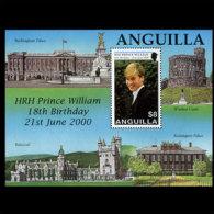 ANGUILLA 2000 - Scott# 1023 S/S Prince William MNH No Gum - Anguilla (1968-...)