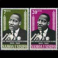 SAMOA 1968 - Scott# 298-9 Martin L.King Set Of 2 MNH - Samoa
