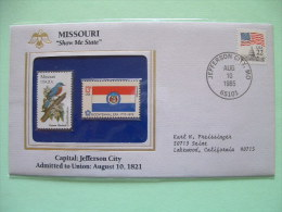USA 1986 State Bird, Flower And Flag (Bicentennial) - Missouri Eastern Bluebird And Red Hawthorn - Etats-Unis