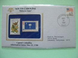 USA 1985 State Bird, Flower And Flag (Bicentennial) - South Carolina Wren And Jassamine - Etats-Unis