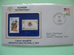 USA 1985 State Bird, Flower And Flag (Bicentennial) - Illinois Cardinal And Violet - Etats-Unis