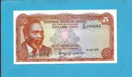 KENYA - 5 Shillings - 01.07.1978 - Pick 15 - Mzee Jomo Kenyatta  - 2 Scans - Kenya