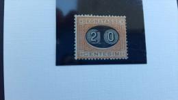 Italy 1890 Postage Due, Sassone 18,20 Centesimi On 1 Mint Hinged ,Signed Gazzi - Mint/hinged