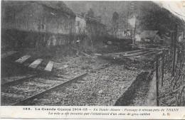 GUERRE 1914 - 1915 -   Passage à Niveau Près De THANN éventrée Par L'Eclatement D'un Obus - ENCH331 - - War 1914-18