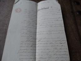 Acte Notarié-établit à CHIMAY-15 Février 1839 - Manuscrits