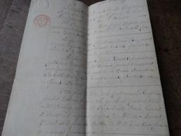 Acte Notarié-établit à CHIMAY-1835 - Manuscrits