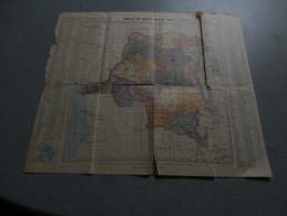 Carte Du Congo Belge 1923, Dimensions 43 X 49 Cm, Jules Flamme, Ed Lesigne - Geographical Maps