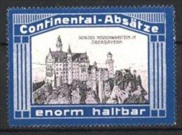 Vignette Publicitaire Continental-Absätze, Château Neuschwanstein In Bayern - Vignetten (Erinnophilie)