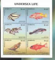 ANTIGUA & BARBUDA  2129 MINT NEVER HINGED MINI SHEET OF FISH-MARINE LIFE    ( - Pesci