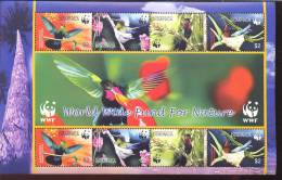 DOMINICA   2520 E WWF MINT NEVER HINGED MINI SHEET OF BIRDS   X 2 WWF - Non Classés