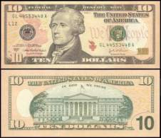 United States #520-L, 10 Dollars, 2004, UNC / NEUF - Federal Reserve (1928-...)