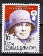 Yugoslavia,100 Years Of Circle Of Serbian Sisters 2003.,MNH - 1992-2003 Sozialistische Republik Jugoslawien