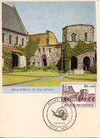 BELGIQUE. N°1754 De 1975 Sur Carte Maximum. Abbaye De Gand. - Abbazie E Monasteri