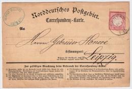 DR, 1872, Correspondenz-Karte, R!  , #2633 - Deutschland