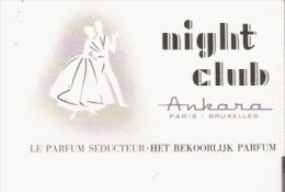 CARTE PARFUMEE ANCINNE NIGHT CLUB D'ANKARA PARIS BRUXELLES - Vintage (until 1960)