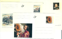 BK 71/73 VAN DYCK  Perfect - Stamped Stationery