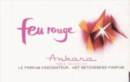 CARTE PARFUMEE ANCIENNE FEU ROUGE D'ANKARA PARIS BRUXELLES - Perfume Cards