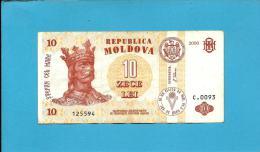 MOLDOVA - 10 LEI - 2006 - Pick 10 - Serie C.0093 - Republica - Moldova