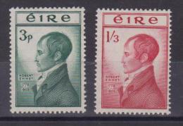 **  IRLANDA 1953 MORTE DI ROBERT EMMET MNH 120/121 - 1949-... Repubblica D'Irlanda