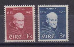 **  IRLANDA 1957 MORTE DI PADRE LUKE WADDING MNH 134/135 - 1949-... Repubblica D'Irlanda