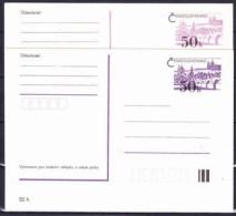 Tchécoslovaquie 1979, Entier (CDV 190 A+b) - Postkaarten