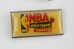 1996 NBA Europe Tour  Pin Badge #PLS - Pallacanestro