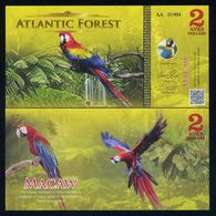 ATLANTIC FOREST - 30 Aves Dollars 2017 - Banconote