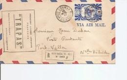 Nouvelle -Calédonie ( Lettre En Premier Vol De 1947 De Nouméa Vers Les Nouvelles -Hébrides à Voir) - Storia Postale
