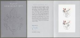 "Bund: Minister Card - Ministerkarte DINA5h, Mi-Nr-2599, "" 80 Geburtstag Papst Benedikt XVI "" !  X - BRD"