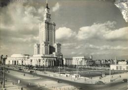 Pologne - Warszawa - Palac Kultury I Nauki - Fot Z. Siemaszko - 2 Scans - Semi Moderne Grand Format - état - Pologne