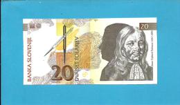 SLOVENIA - 20 TOLARJEV - 1992 - Pick 12 -  UNC. - Prefix AA - Banka Slovenije - 2 Scans - Eslovenia