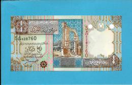 LIBYA - 1/4 Dinar - ( 2002 ) - P 62 -  UNC. - Sign. 4 - Series 5 -  See 2 Scans - Libye