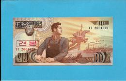 KOREA, NORTH - 10 WON - 1998 - P 41.s - UNC. - SPECIMEN - 2001421 - 2 Scans - Korea, North