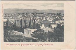 25592g BEYROUTH - Eglise Américaine - Panorama - Tarazi & Fils Editeur - Liban