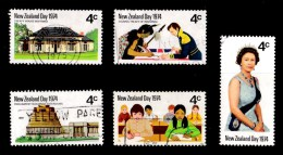 New Zealand 1974 NZ Day Set Of 5 Used - - New Zealand